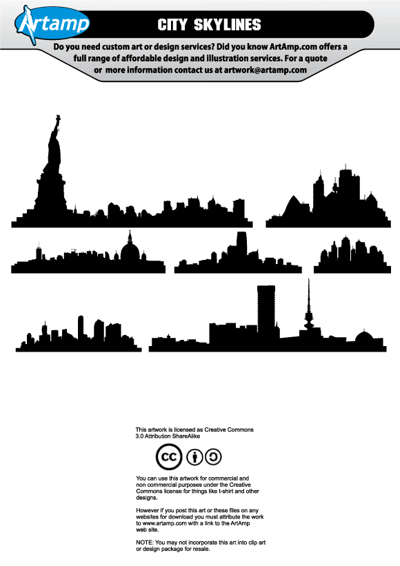 city skyline cartoon. Free Vector City Skyline,