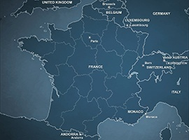 Free Vector Political Map of France