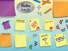 Notes Vector Set