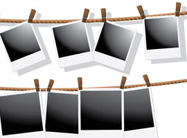 Polaroid Frames Vector Set