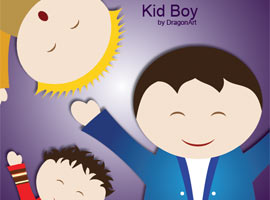 Kid Boy Vector
