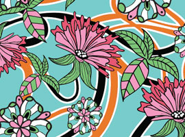 Summer Floral Wallpaper Vector- free