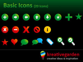 Basic Icons Set - Free Vector Icons