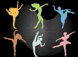 silhouette dancers
