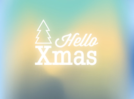 Blurred Christmas Vector Background