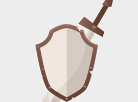 Free Sword and Shield Vector
