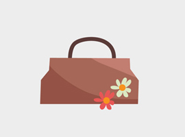 Cute Free Vector Purse