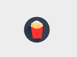 French Fries Vector Icon
