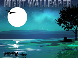 Vector Night Wallpaper