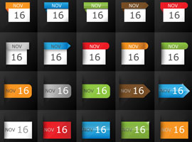 Huge Pack of Calendar Icons