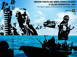 Armed Pirate Vectors & Armed Guards on Ships