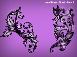 Hand Drawn Floral 2
