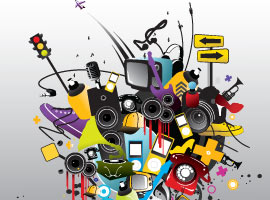 Playful Music Vector Art Elements