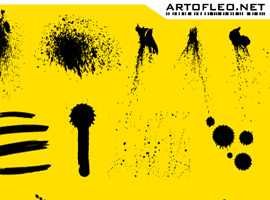 Vector Ink and Paint Splatters