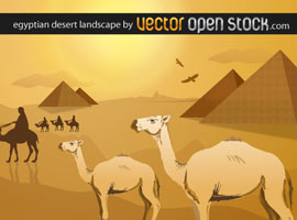 Egyptian Desert Landscape
