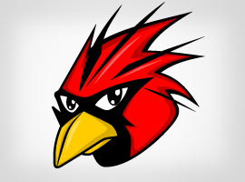 Free Vector Red Bird Head
