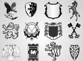 Vector Heraldic Elements for Logo Design