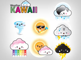 Free 12 Vector Weather Kawaii