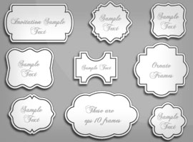 free vintage ornate vector frames