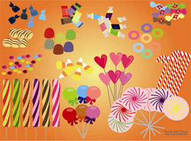 Vector Candies and Sweets