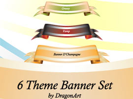 Theme Colored Banner Set