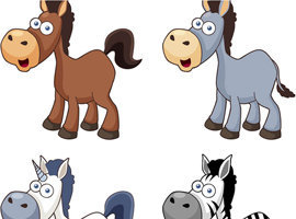Vector Cartoon Horse Icons