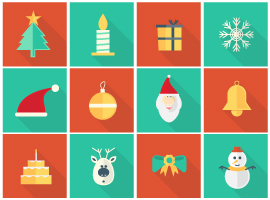Flat Vector Christmas Ornaments