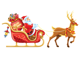 Santa Claus Vector With Gifts