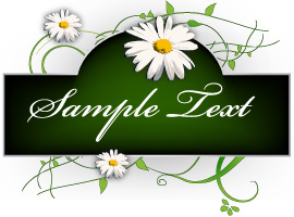 Flowers Banner Vector Graphics