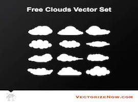 Free Cloud Vector Set