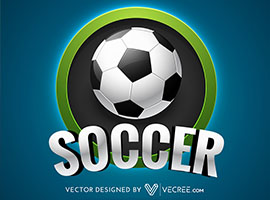 Soccer Label Design Vector