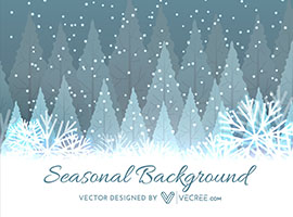 Winter Tree Christmas Background