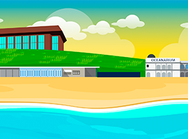 Bournemouth Beach Vector Landscape