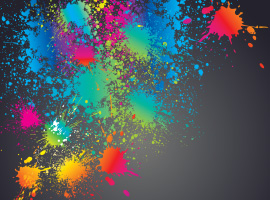 Bright Colorful Splatter Vector