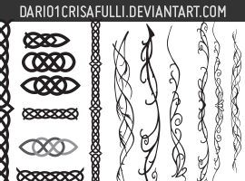Celtic and Elvish Decoration Vectors