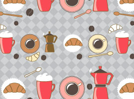 Morning Coffee Free Illustrator Patterns
