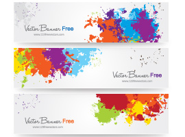 Colorful Splash Banner Vector