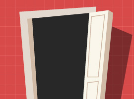 Cartoon Door Vector