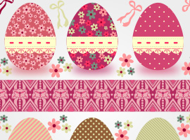 Easter Eggs Vector 2