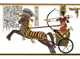 Historic Illustration of Egiptian Pharaoh