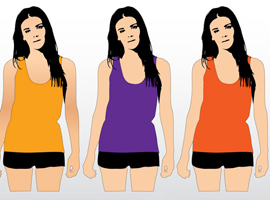Free Women's Tank Top Template Vector