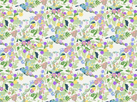 Funky Flowers Background Vector