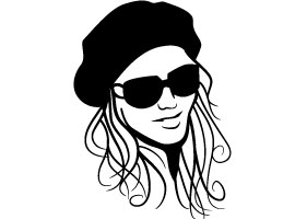 Girl With Hat and Glasses Vector