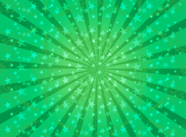 Green Sunburst Vector