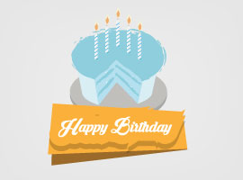 Free Vector Happy Birthday Cake