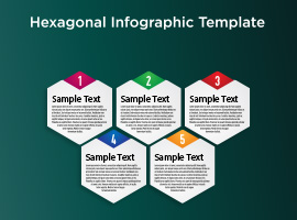 Hexagon Infographic Vector Background