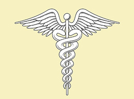 Vector Medical Caduceus