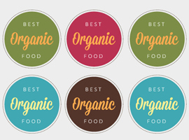 Organic Food Label Vectors