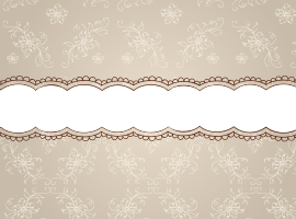 Beige Floral Pattern Ribbon Background Vector
