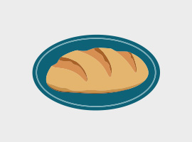 Free Vector Bread Label
